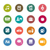 Education Color Icons Stock Images