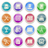 Education color icons. Royalty Free Stock Photo