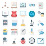 Education Color Isolated Vector Icons Editable Best For Education Projects royalty free illustration