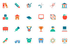Education Colored Vector Icons 10 Royalty Free Stock Photo