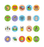 Education Colored Vector Icons 10 Stock Images