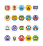 Education Colored Vector Icons 12. Get all ready for school with these Education Vector Icons The end of summer and beginning of fall means going back to school royalty free illustration