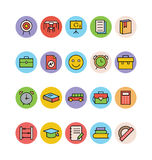 Education Colored Vector Icons 11 Stock Photos