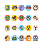 Education Colored Vector Icons 2 Stock Images
