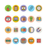 Education Colored Vector Icons 14 Royalty Free Stock Photo