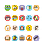 Education Colored Vector Icons 8 Royalty Free Stock Images