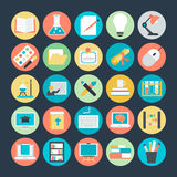 Education Colored Vector Icons 1 Stock Images