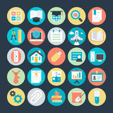 Education Colored Vector Icons 4 Royalty Free Stock Images
