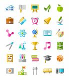 Education colorful icons. Royalty Free Stock Photography