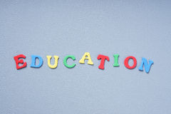 Education in colorful letters Stock Photos
