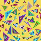 Education colorful triangles pattern. Vector file EPS8. Yellow education colorful triangles background for web presentations and prints. Vector illustration Stock Photography