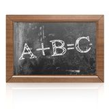 Education concept with ABC on blackboard. 3D rendering royalty free illustration