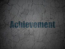 Education concept: Achievement on grunge wall Royalty Free Stock Photography