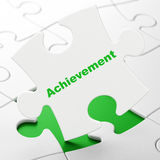 Education concept: Achievement on puzzle background Stock Photo