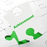 Education concept: Achievement on puzzle background Stock Photo