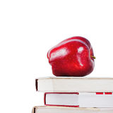 Education concept with apple and books Royalty Free Stock Photo