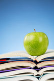 Education Concept - an Apple and Books Royalty Free Stock Images