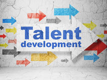 Education concept: arrow with Talent Development on grunge wall background Stock Photography