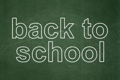 Education concept: Back to School on chalkboard Stock Images
