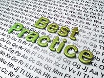 Education concept: Best Practice on Alphabet Stock Images