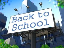 Education Concept on Billboard. Stock Image