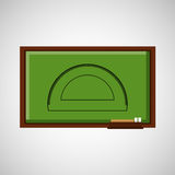 Education concept blackboard with protractor stock illustration