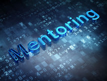 Education concept: Blue Mentoring on digital background. 3d render royalty free stock image