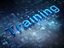 Education concept: Blue Training on digital background Royalty Free Stock Photos