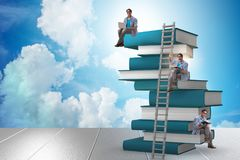 The education concept with books and people Royalty Free Stock Photos