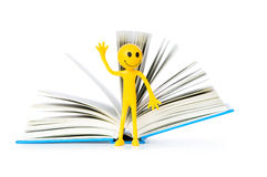 Education concept - books and smilie Royalty Free Stock Image