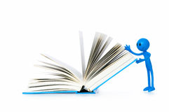 Education concept - books and smilie Stock Images