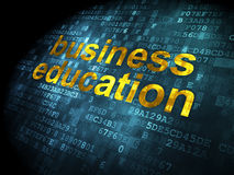 Education concept: Business Education on digital background Royalty Free Stock Photography