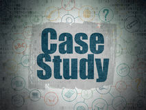 Education concept: Case Study on Digital Paper Royalty Free Stock Images