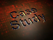 Education concept: Case Study on digital screen background Royalty Free Stock Photography