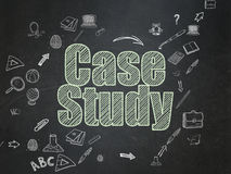 Education concept: Case Study on School Board Stock Image