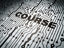Education concept: circuit board with Course Stock Image