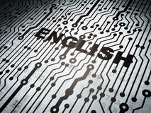 Education concept: circuit board with English Stock Image
