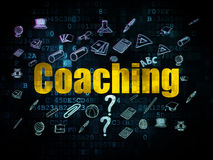 Education concept: Coaching on Digital background Royalty Free Stock Image