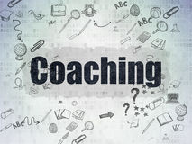 Education concept: Coaching on Digital Paper Royalty Free Stock Photo