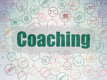 Education concept: Coaching on Digital Paper Stock Photography