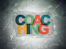 Education concept: Coaching on Digital Paper Royalty Free Stock Photography