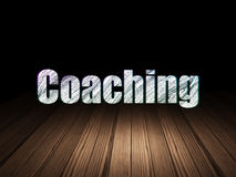 Education concept: Coaching in grunge dark room Royalty Free Stock Images