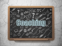 Education concept: Coaching on School Board Royalty Free Stock Photography