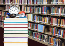 Education concept. Colorful books and bookshelf for education concept Royalty Free Stock Photography