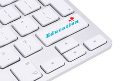 Education concept, computer keyboard with word Education Royalty Free Stock Image