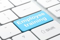 Education concept: Employee Training on computer keyboard background Royalty Free Stock Image