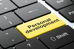 Education concept: Personal Development on computer keyboard background Royalty Free Stock Photos