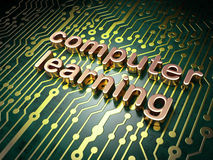 Education concept: Computer Learning on circuit board background Stock Photos