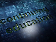 Education concept: Continuing Education on digital Stock Images