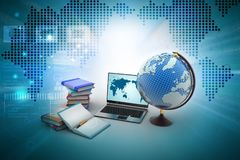 Education concept. 3d illustration of Education concept Royalty Free Stock Photos